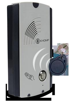 Interfone para casa de praia, Mobile Intercom 101 com tag RFID